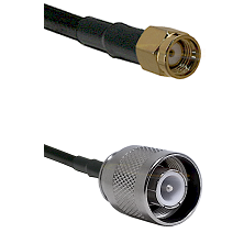SMA Reverse Polarity Male Connector On LMR-240UF UltraFlex To SC Male Connector Coaxial Cable Assemb