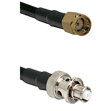 SMA Reverse Polarity Male Connector On LMR-240UF UltraFlex To SHV Plug Connector Coaxial Cable Assem