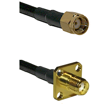 SMA Reverse Polarity Male Connector On LMR-240UF UltraFlex To SMA 4 Hole Female Connector Coaxial Ca
