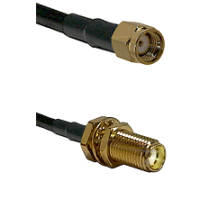 SMA Reverse Polarity Male on LMR240 Ultra Flex to SMA Female Bulkhead Cable Assembly