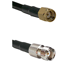 Reverse Polarity SMA Male On LMR400UF To TNC Female Connectors Ultra Flex Coaxial Cable