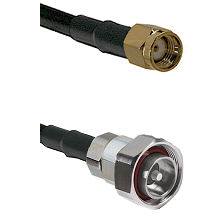 SMA Reverse Polarity Male on RG142 to 7/16 Din Male Cable Assembly