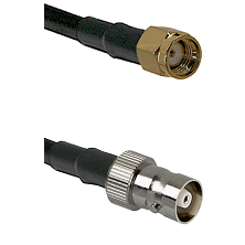 SMA Reverse Polarity Male on RG142 to C Female Cable Assembly