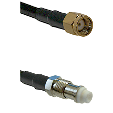 SMA Reverse Polarity Male on RG142 to FME Female Cable Assembly