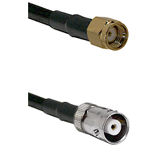 SMA Reverse Polarity Male on RG142 to MHV Female Cable Assembly