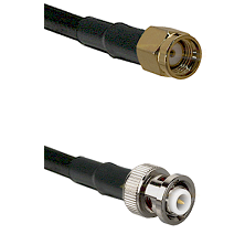 SMA Reverse Polarity Male on RG142 to MHV Male Cable Assembly