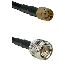 SMA Reverse Polarity Male on RG142 to Mini-UHF Male Cable Assembly