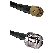 Reverse Polarity SMA Male on RG142 to UHF Female Connectors Cable Assembly