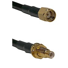 SMA Reverse Polarity Male on RG174 to SMC Male Bulkhead Cable Assembly