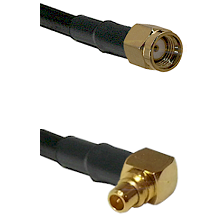 SMA Reverse Polarity Male on RG188 to MMCX Right Angle Male Cable Assembly