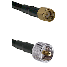 SMA Reverse Polarity Male on RG188 to UHF Male Cable Assembly