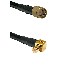 Reverse Polarity SMA Male On RG223 To Right Angle MCX Male Connectors Coaxial Cable