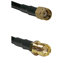 SMA Reverse Polarity Male on RG316DS Double Shielded to SSMA Female Cable Assembly