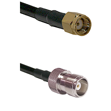 SMA Reverse Polarity Male on RG393 to HN Female Cable Assembly