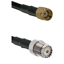 SMA Reverse Polarity Male on RG58 to Mini-UHF Female Cable Assembly