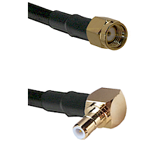 SMA Reverse Polarity Male on RG58C/U to SMB Right Angle Male Cable Assembly