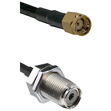 Reverse Polarity SMA Male To UHF Bulk Head Female Connectors RG58C/U Cable Assembly