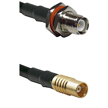 TNC Reverse Polarity Female Bulkhead on LMR100 to MCX Female Cable Assembly