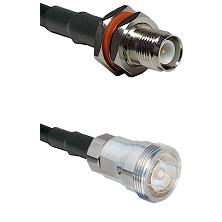 TNC Reverse Polarity Female Bulkhead on LMR-195-UF UltraFlex to 7/16 Din Female Coaxial Cable Assemb