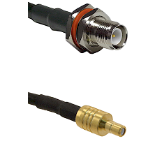 TNC Reverse Polarity Female Bulkhead on LMR195 to SSMB Male Cable Assembly