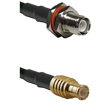 TNC Reverse Polarity Female Bulkhead on RG400 to MCX Male Cable Assembly