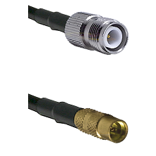 TNC Reverse Polarity Female on LMR100 to MMCX Female Cable Assembly