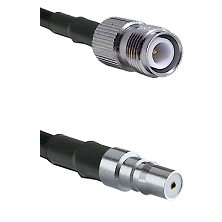 TNC Reverse Polarity Female on LMR100 to QMA Female Cable Assembly