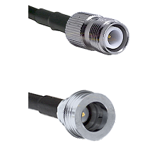 TNC Reverse Polarity Female on LMR100 to QN Male Cable Assembly