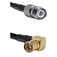 TNC Reverse Polarity Female on LMR100 to SMB Right Angle Female Cable Assembly