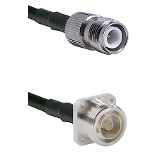 TNC Reverse Polarity Female on LMR200 UltraFlex to 7/16 4 Hole Female Cable Assembly