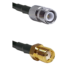 TNC Reverse Polarity Female Connector On LMR-240UF UltraFlex To SMA Reverse Thread Female Connector