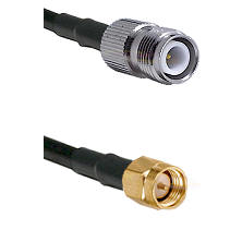 TNC Reverse Polarity Female on LMR240 Ultra Flex to SMA Reverse Thread Male Cable Assembly