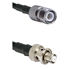 TNC Reverse Polarity Female Connector On LMR-240UF UltraFlex To SHV Plug Connector Coaxial Cable Ass