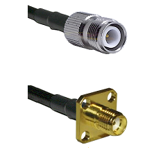 TNC Reverse Polarity Female Connector On LMR-240UF UltraFlex To SMA 4 Hole Female Connector Coaxial