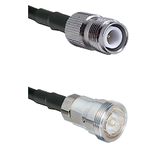 TNC Reverse Polarity Female on RG142 to 7/16 Din Female Cable Assembly