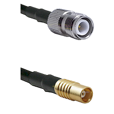TNC Reverse Polarity Female on RG142 to MCX Female Cable Assembly