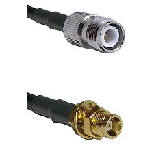 TNC Reverse Polarity Female on RG142 to MCX Female Bulkhead Cable Assembly