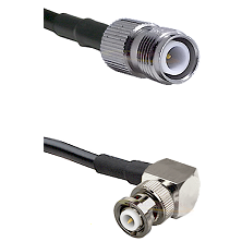 TNC Reverse Polarity Female on RG142 to MHV Right Angle Male Cable Assembly