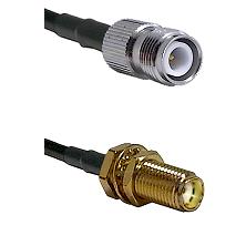TNC Reverse Polarity Female on RG188 to SMA Female Bulkhead Cable Assembly