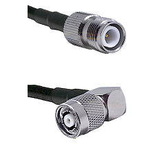 TNC Reverse Polarity Female on RG214 to TNC Reverse Polarity Right Angle Male Cable Assembly