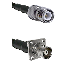 TNC Reverse Polarity Female on RG400 to C 4 Hole Female Cable Assembly