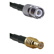 TNC Reverse Polarity Female on RG400 to MCX Male Cable Assembly