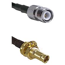 TNC Reverse Polarity Female on RG58C/U to 10/23 Female Bulkhead Cable Assembly