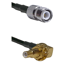 TNC Reverse Polarity Female on RG58C/U to SLB Male Bulkhead Cable Assembly
