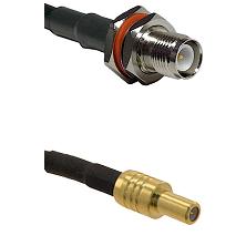 TNC Reverse Polarity Female Bulkhead on RG58C/U to SLB Male Cable Assembly