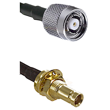 TNC Reverse Polarity Male on LMR100 to 10/23 Female Bulkhead Cable Assembly