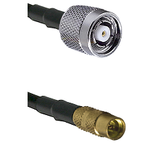 TNC Reverse Polarity Male on LMR100 to MMCX Female Cable Assembly
