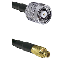 TNC Reverse Polarity Male on LMR100 to MMCX Male Cable Assembly