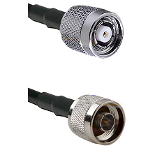 TNC Reverse Polarity Male on LMR100 to N Male Cable Assembly