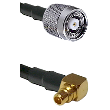 TNC Reverse Polarity Male on LMR100 to MMCX Right Angle Male Cable Assembly
